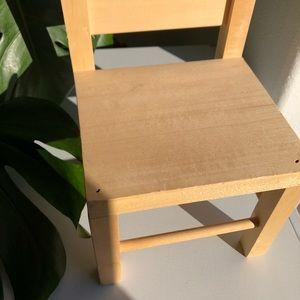 Vintage Accents - 🦚 VINTAGE Small Wooden Plant Chair Cottagecore